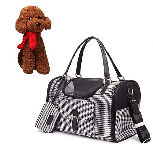 WXQY Tragbarer Käfighund, Faltbare Waschbare Kissen-Handtaschen-Kuriertasche benutzt für Reise-Haustier-Hundelichtkasten