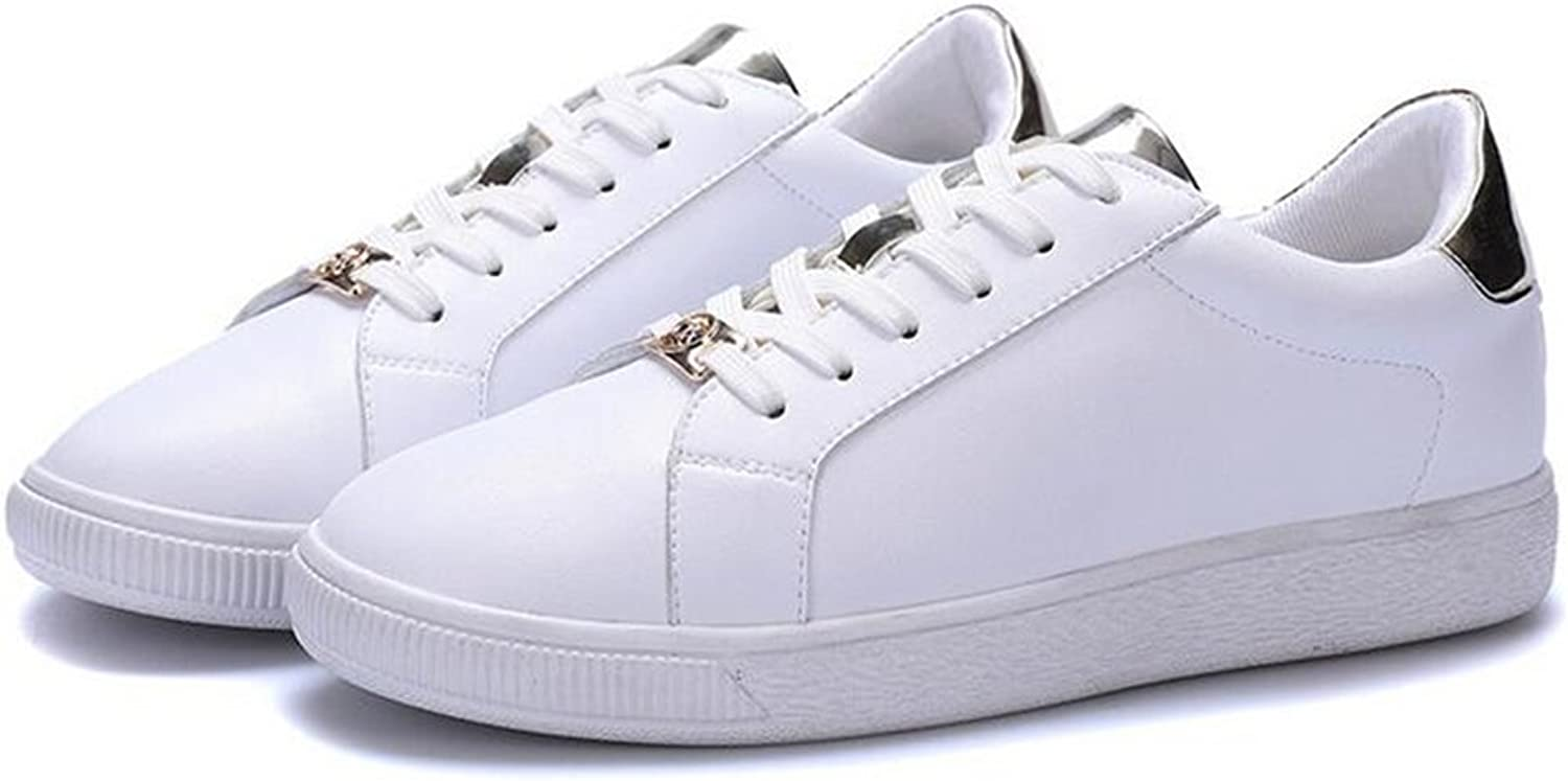 Jiang Womens's shoes Spring New Lace-up Flat Sneakers,Casual Fashion Academy shoes,Comfort Small White shoes Sneakers