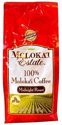 Molokai Estate 100% Moloka'i Coffee - Midnight Roast Whole Bean 1.5 lb