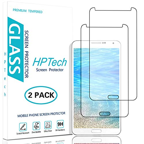 HPTech Galaxy Note 3 Screen Protector - (2-Pack) for Samsung Galaxy Note 3 Tempered Glass Screen Protector Bubble Free 9H Hardness with Lifetime Replacement Warranty
