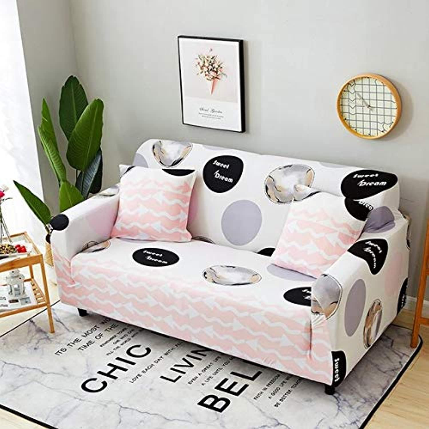 Hot Patterns Unicorn Horse Flamingo Cactus Sofa Cover Elastic Wrapped Entire Sofa Slipcovers Stretch Fabric Couch Covers Cases   06, Single seat