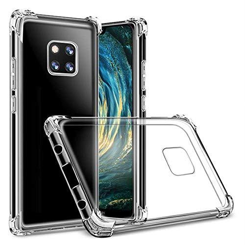 Hually Cover per Huawei Mate 20 PRO, Sottile e Trasparente Compatibile con Huawei Mate 20 PRO, Custodia Morbida in Silicone Flessibile - Gelatina Trasparente Cover