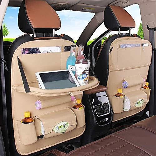 Organizador de almacenamiento para asiento de automóvil con soporte para tableta Tapetes para niños Fundas protectoras para asiento de bebé Bolsillos múltiples Organizador de botas Almacenamiento Orga