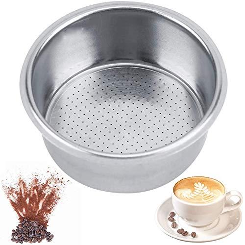 Kaffeefilterkorb aus Edelstahl Kaffee Sieb Einsatz des Filter Edelstahl Kaffeefilter 51mm Wiederverwendbare Kaffee Handfilte einlagig, nicht druckvoll,10 g Pulverkapazität,für Haushaltsmittel-Teeladen