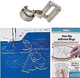 YICBOR Empuñaduras antideslizantes para regla, paquete de 30 unidades + Regla de Regla Set de Muestras #RL-06 + Roca de Vástago Bajo