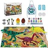 Vindany Dinosauro Giocattolo, Creativi Gioco Pittura Dinosauri, DIY Pittura Dinosauro Kit,30Pz Kit Pittura Dinosauro per Regalo di Compleanno per Bambini
