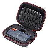 L3 Tech Estuche rígido para SanDisk SSD portátil SDSSDE60 de 250GB / 500GB / 1TB / 2TB, Bolsa de Almacenamiento portátil - Negro