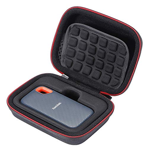 L3 Tech Estuche rígido para SanDisk SSD portátil SDSSDE60 de 250GB   500GB   1TB