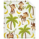 Monkey Blanket, Flannel Fleece Super Soft Cozy Blanket All Seasons Lightweight Microfiber Throw for Living Room Bed Couch Sofa and Travel 50'x40' for Kids Child