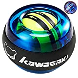 U/D Kawasaki Auto-Start 2.0 Power Ball Wrist Trainer Ball Forearm Exerciser Wrist Strengthener Workout Toy Spinner Gyro Ball with LED Lights