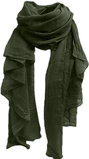 Halstuch Damen Mode Elegant Wickelschal Stola Aus Baumwollleinen Einfarbig Weiches Party Stil Halstuch Schals Schal Mädchen