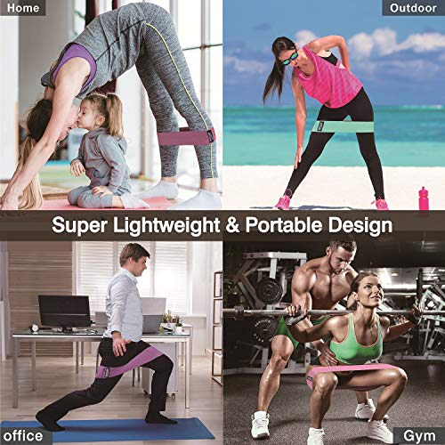 Product Image 7: NVRGIUP Exercise Resistance Bands for Legs and Butt, Upgrade Thicken Anti-Slip & Roll Home Gym Workout Booty Bands, Wide Fabric Loop Thigh Glute Bands Set for Women with Ebook & Video