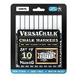 VersaChalk Fine Liquid Chalk Markers 10/Pkg-White -