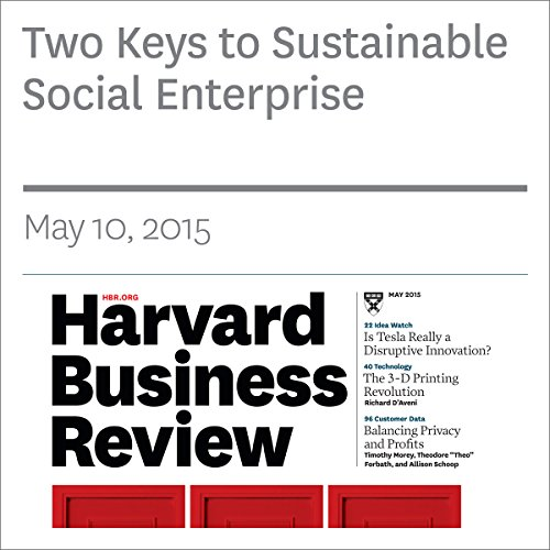 Two Keys to Sustainable Social Enterprise copertina