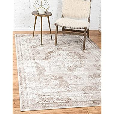 Unique Loom Sofia Collection Beige 9 x 12 Area Rug (9' x 12')