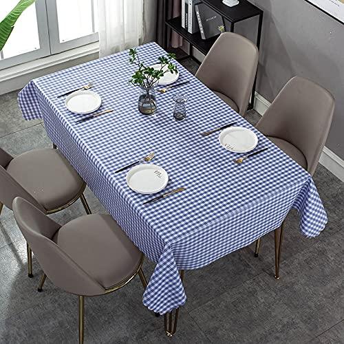 XXDD Mantel con patrón de verificación Simple, Mantel Cuadrado Rectangular para Cubierta de Escritorio, Mantel Impermeable para decoración de Mesa, Tablero de Mesa A1 140x160cm