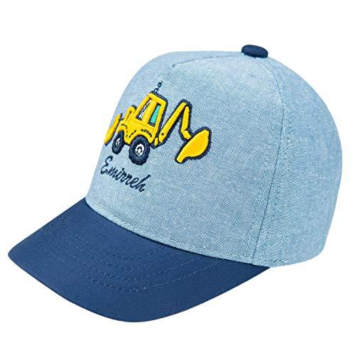 Foruhoo Gorra de béisbol ajustable para niños – Gorra para niños – Sombrero para camionero sombrero para el sol azul 52