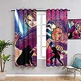 Sdustin Star-Wars - Cortinas de salón (152 x 213 cm), diseño de sable de luz (152 x 213 cm)