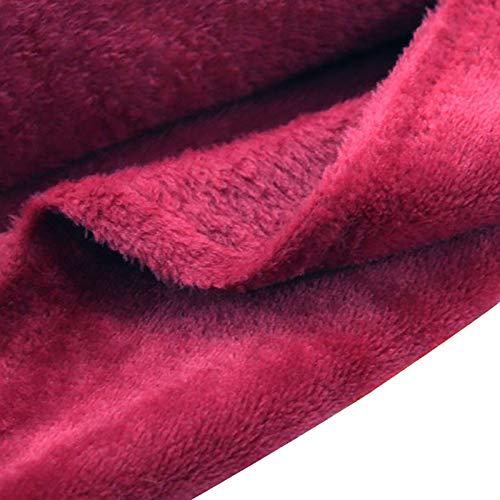 ZSYGFS 180 Cm De Ancho Tela De Terciopelo Suave para Coser De Chaquetas Decoración Decoración del Hogar Cortinas Tapicería Vestido Sillas Ropa Vendido por Metro(Color:Vino Rojo)