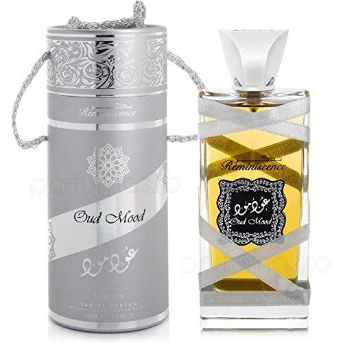 Eau de Parfum Oud Mood Reminiscence di Lattafa, fragranza orientale leggermente fresca