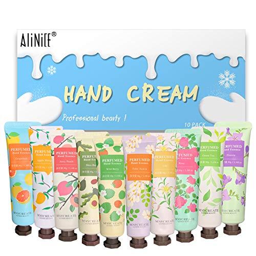 Alinice 10er Pack Pflanzenduft Handcreme Feuchtigkeitsspendende Handpflegecreme für arbeitende Hände und trockene Haut, Reparatur Anti-Aging Anti-Chapping