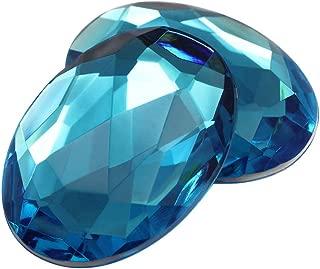 40x30mm Aqua A21 Flat Back Oval Acrylic Jewels Pro Grade - 4 Pieces