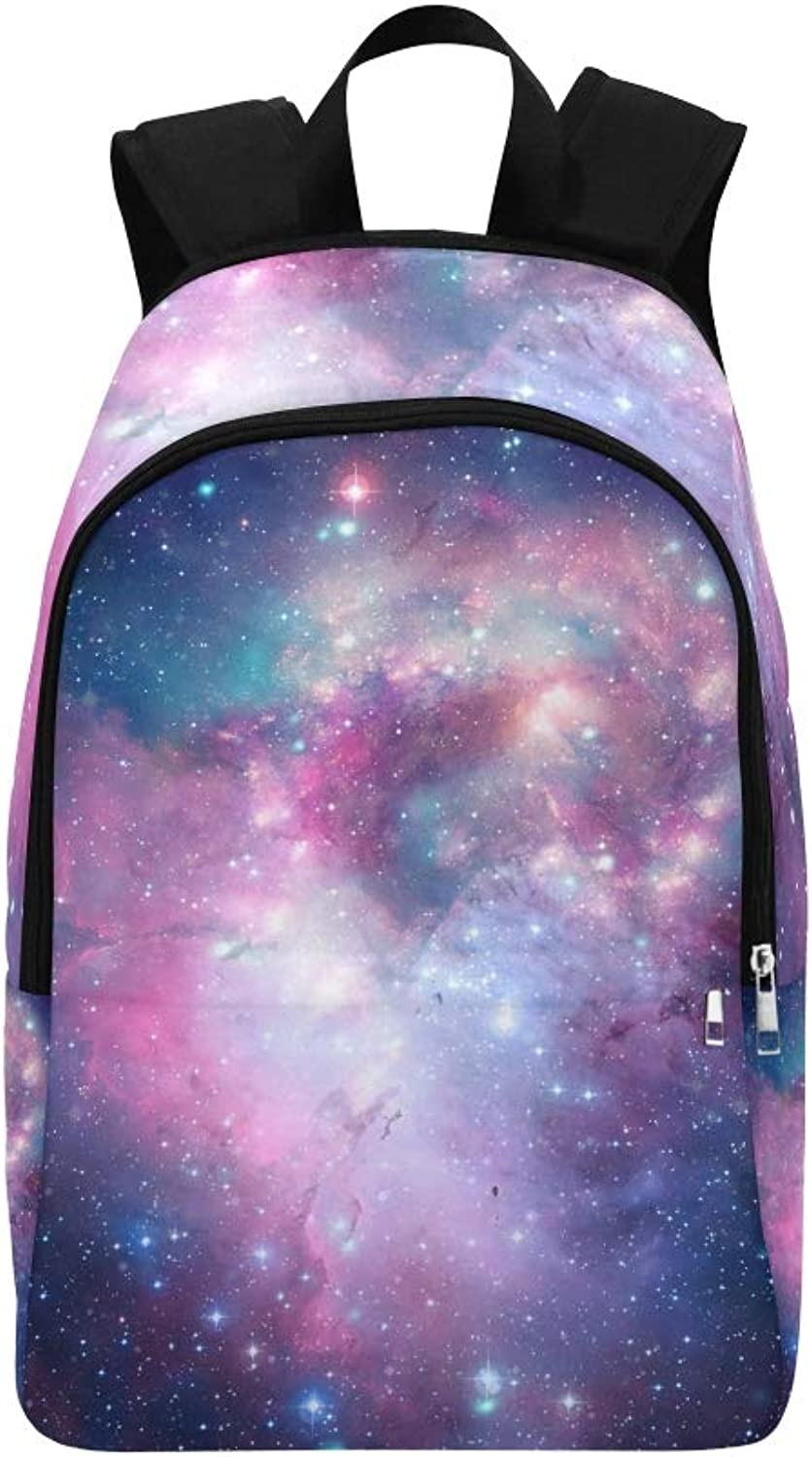 colorful Space Nebula Stars Elements This Casual Daypack Travel Bag College School Backpack for Mens and Women