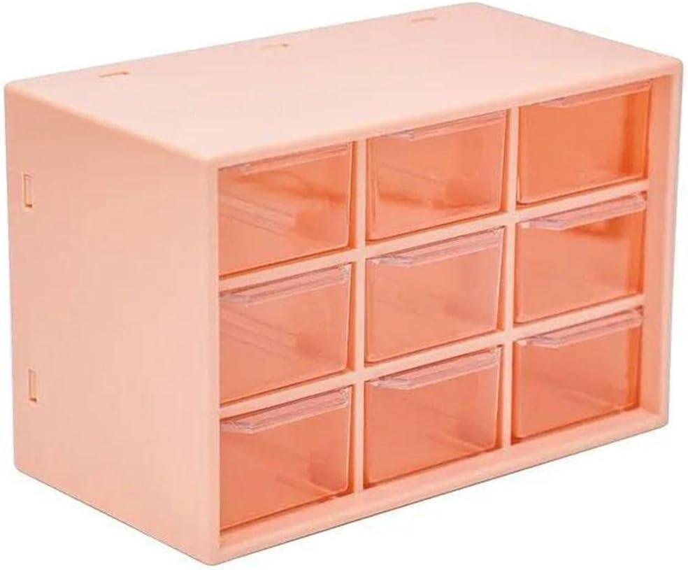 Yurone New York Mall Desktop Organizer Dustproof Box C Recommendation Storage 9 Grids Jewelry