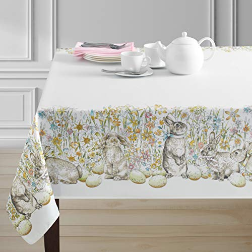 "Benson Mills Spillproof Easter Tablecloth Indoor/Outdoor Use (Chloe, 60"" X 84"" Rectangular)"