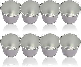 BETOY Molde de pudín, Aluminio Pudding Cuencas moldes, Copa Torta de la Forma/Maceta soufflé de Frambuesa para DIY de cocción