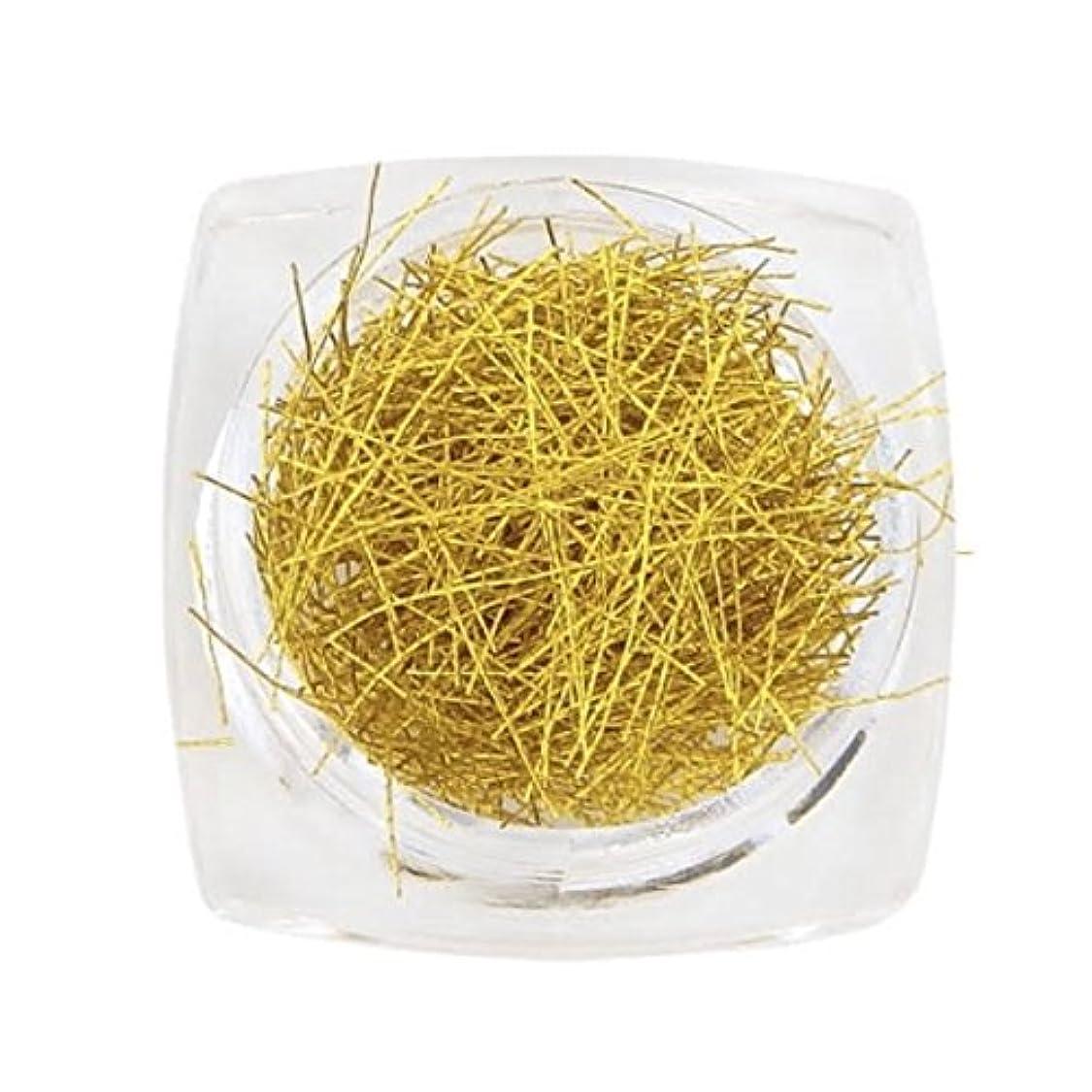 許可するかるシャンプーNail-riche/ネイルリシェ グリッターヤーン ネイル用 10色 (ゴールド)