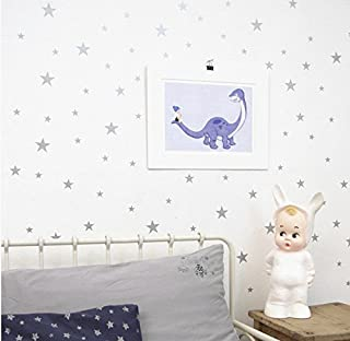 Multi Size Stars Pattern DIY Wall Stickers Removable Home Decoration Starts Wall adesivo Baby kids Nursery Bedroom Wall Decor Stickers YYU-10 (Gray)