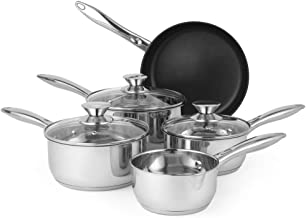 Russell Hobbs Classic Collection 5-Piece Pan Set, Silver
