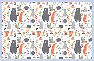 Super Sticky Disposable Placemats - 60 Count - for Baby or Toddler - BPA Free - Kids 4 Sided Stick On Placemats - 3 Bags of 20...