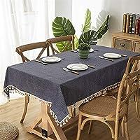 シンプルなフリンジレース長方形テーブルクロス スタイリッシュで実用的 (Color : A, Size : 140*180cm)