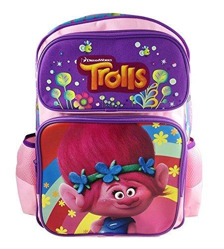 New Dreamworks Trolls Poppy 16' Light Pink Large School Backpack Book Bag