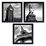 Item Size: 14 inches X 14 inches Included Components:Three UV textured print framed painting without glass Special Feature:Light weight quality with multi-effects Care Instructions:Water Splash Proof, Easy To Clean and Ready to Hang. Material: High q...