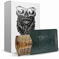 Beard comb double-sided wood by Eisenbart / pocket comb antistatic beard care