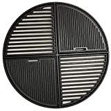 Dongftai C8837 Cast Iron Grate,Modular Fits 22.5' Grills, Pre Seasoned, Non Stick Cooking Surface