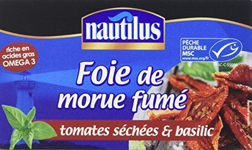 Nautilus Foie de Morue Fume Tomate Séchée Basilic 120 g