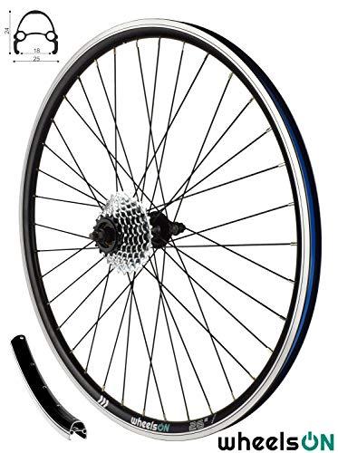 26 inch Rear Wheel + 7 spd SunRace Freewheel Hybrid/Mountain Bike Black 36H