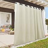 RYB HOME Cortinas impermeables para exteriores – Cortinas opacas de privacidad para...