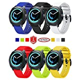 Funband Correa para Gear Sport, 20mm Reemplazo de Banda de Silicona Deportiva Pulsera para 20mm Universal Strap/Gear S2 Classic/Galaxy Watch 42mm/Galaxy Watch Active/Galaxy Watch Active 2/Vivoactive 3