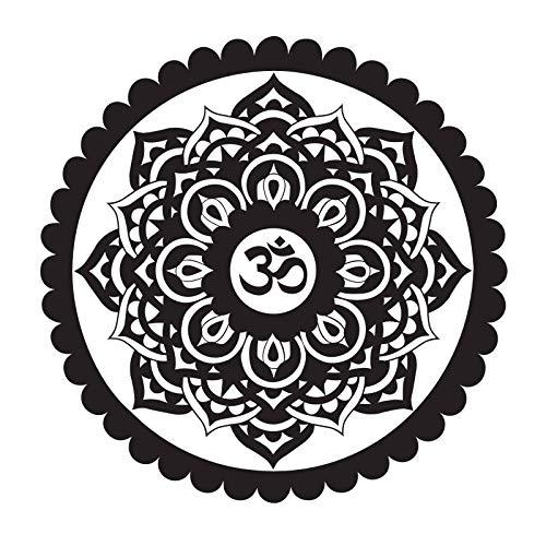 jiushizq Indische Wandkunst Malerei Auf Der Wand Om Zeichen Mandala Wandaufkleber Creation Adhesive Stickers Vinyl Wandtattoos 88 x 88 cm