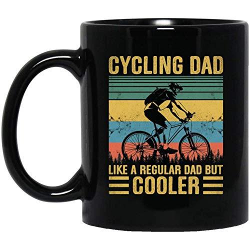 Cycling Dad Like A Regular Dad But Cooler Vintage Retro Ceramic Coffee Mug