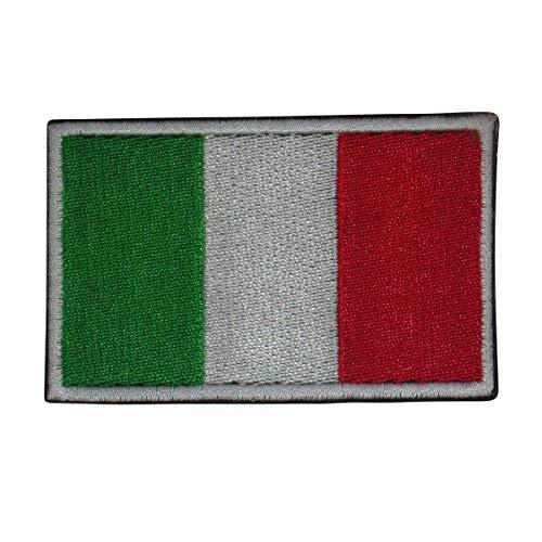 Cobra Tactical Solutions bandiera Italia Italy Ricamata Toppa militare Patch Gancio e Anello per Airsoft Paintball, per Abbigliamento tattico Zaino