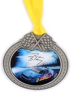 Sparta Ryan Blaney Car Pewter Metal NASCAR Christmas Ornament
