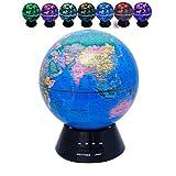 Umidificatori Portatili Nebbia Fredda ad ultrasuoni Essenziale diffusori Olio aromatizzato Globe umidificatore Mini 7 Colori Luci Desktop Aroma Diffusore 300ml (Color : Englishlightblue)