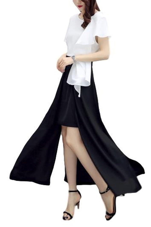 レディース スカートスーツ ワンピース ロングドレス エレガント OL およばれ 美脚 脚長効果 ハイウェスト セレブファッション