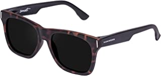 Hawkers Men's BICOLOR CAREY DARK SUNSET SUN07 Rectangular Sunglasses, Black, 12 mm